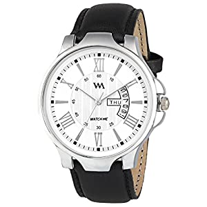 Watch Me AW 2021 Analogue Men's Watch (White Dial Black Colored Strap)