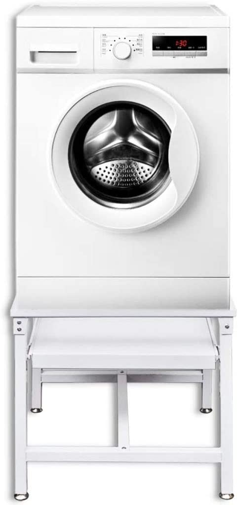 W x D x H FESTNIGHT Washing Machine Pedestal with Storage Pull Out Shelf Dryer Mini Refrigerator Cabinet Stand Load Capacity 220.5 lb for Utility Room Home Furniture 24.8 x 21.3 x 20.1 Inches