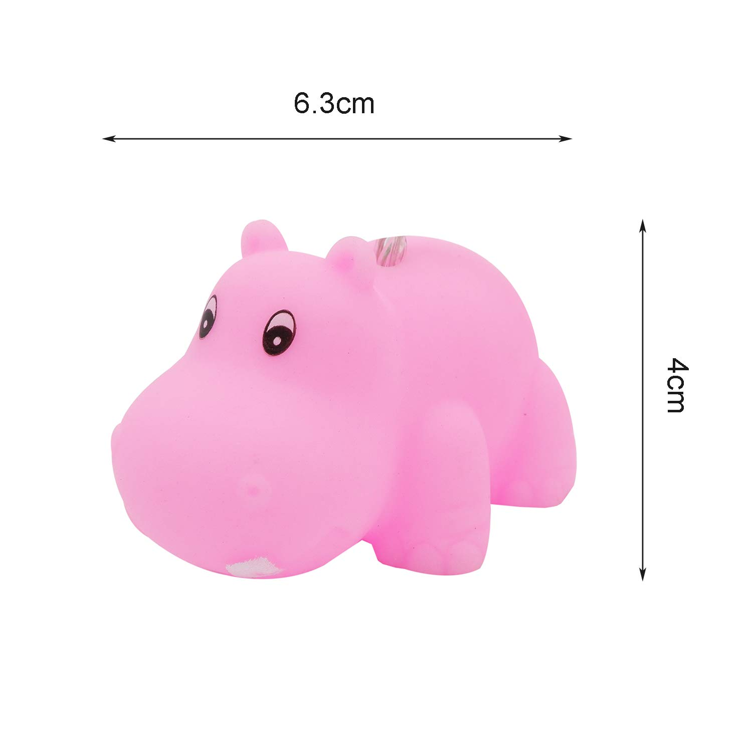 Yaeer Cute Animal Pink Hippo Shape LED String Lights 4.9ft 10 Lights Battery Powered for Indoor/Outdoor Halloween Christmas Thanksgiving Home Party Children Kids Bedroom Decoration