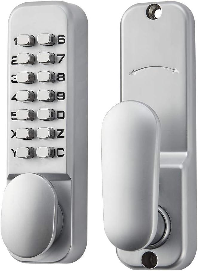 Spotact Cerradura Digital Puerta Proceso de Fundición a Presión de Galvanoplastia de Tres Capas Anticorrosión y Antioxidante No Temen a la Lluvia