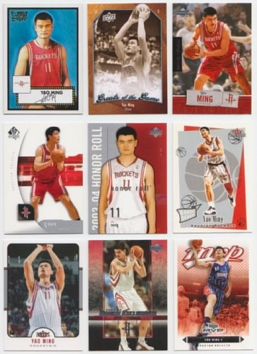 - Yao Ming / 25 Different Basketball Cards Featuring Yao Ming