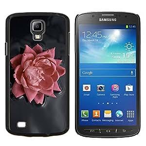 Rosa Rosa- Metal de aluminio y de plástico duro Caja del teléfono - Negro - Samsung i9295 Galaxy S4 Active / i537 (NOT S4)