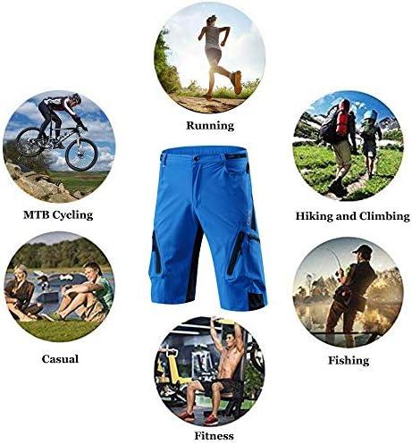 Capplue Casual Biciclette Abbigliamento Bici Pantaloncini da Bicicletta MTB Pantaloncini di Riciclaggio Allentati Biancheria 3D Coolmax Intima Imbottiti in Bicicletta