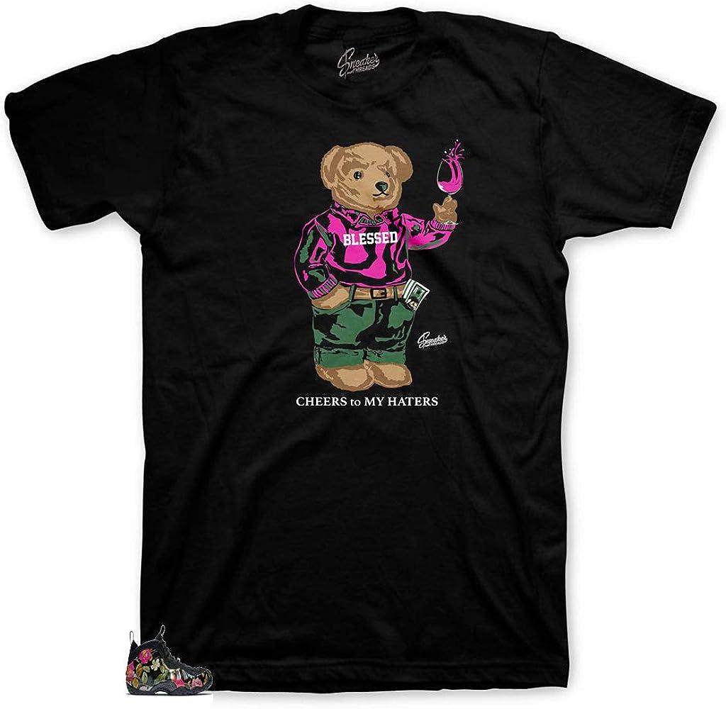 Shirt Match Foamposite Floral Foams Cheers Bear Tee