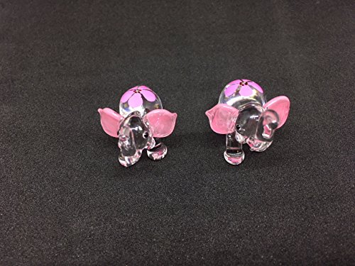 Elephant Figure Dollhouse Miniatures Animals Pink