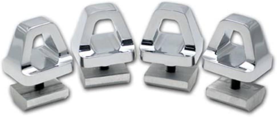 Set of 4 Hummer H3 Chrome Billet Aluminum Roof Rack Cargo Hooks