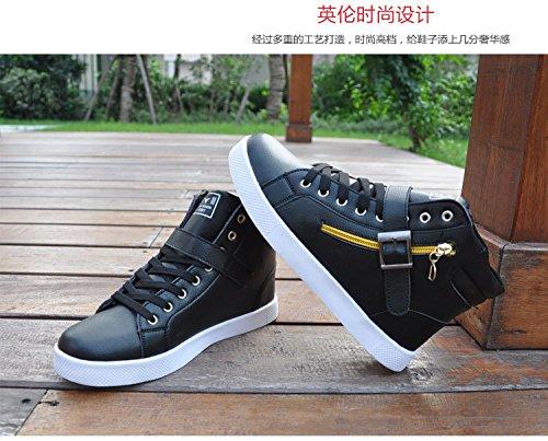 Uomo Inverno Caldo Stivaletto Combattimento Martin High-top Lace Up Scarpa Sneaker Plus Size Bianco