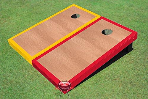 ローズウッドイエローとレッドBorder Corn穴ボードCornhole Game Set B00O7U86S2