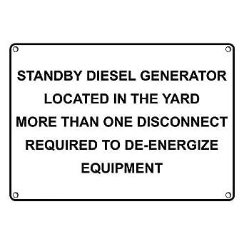 Amazon com: Weatherproof Plastic Standby Diesel Generator Located in