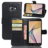Excelsior Premium Leather Wallet Flip Cover Case For Samsung Galaxy A5 2017 Edition (Inner TPU) - Black