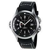 Hamilton Khaki Navy Black Dial GMT Mens Watch H77615333