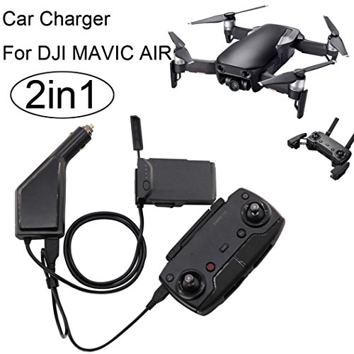 2 in1 USB Car Charger Remote Control Battery Charger For DJI Mavic AIR Drone by Dreamyth