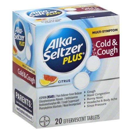 Alka-Seltzer Plus Cold & Cough Tablets, 20ct (Pack of 6)