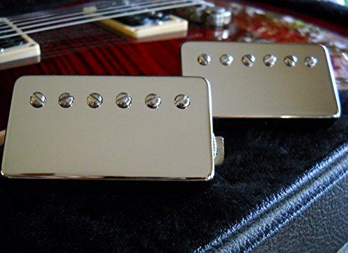 - Wolfetone Marshallhead Humbucker Pickups (Neck & Bridge) Nickel Covers, Braided Conductors for Gibson NEW