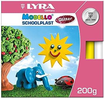 LYRA 8061101 Modello School plast Glitter Estuche de cartón con 10 Cabos, 10 Colores estándar con Glitter: Amazon.es: Juguetes y juegos