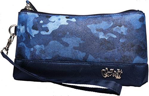 Glove It Women's Wristlet Wallet Zipper Wristlets for Women - Ladies Wristlet Purse - Removable Strap for Keychain - Make Up, Cell Phone, Smartphone, Travel, Credit Cards - 2019 Blue Camo (Camo Wallet Clutch)