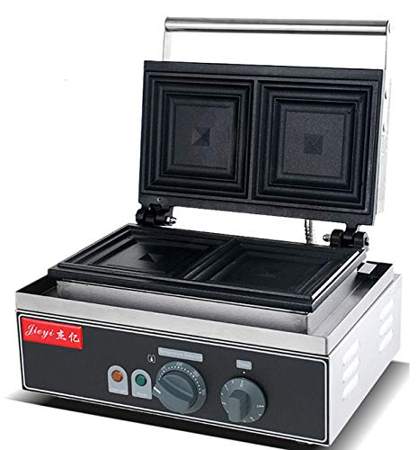 Hanchen Instrument 2 Pces Commercial Electric Panini Press Oven Sandwich Maker Pan Bread Toaster Waffle Iron (FY-113A 110V) by Hanchen Instrument® (Image #3)