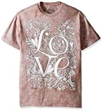 The Mountain Men's Big and Tall Colorwear Letters and Words 10 Love Adult Coloring T-Shirt, Beige, 5XL