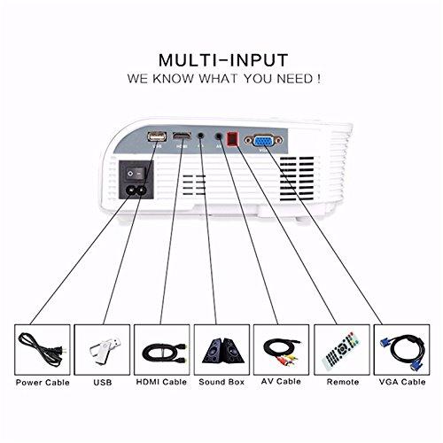 portable led projector elegiant 1200 lumens mini home