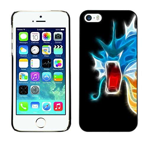 SuperStar // Refroidir image Étui rigide PC Housse de protection Hard Case Protective Cover for iPhone 5 / 5S / Flaming Neon dragon /