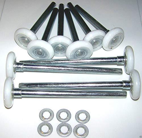Havilah7 Ball Garage Door Roller Nylon Wheel Hurricane Roller Kit Wheels Replacement Garage Equipment