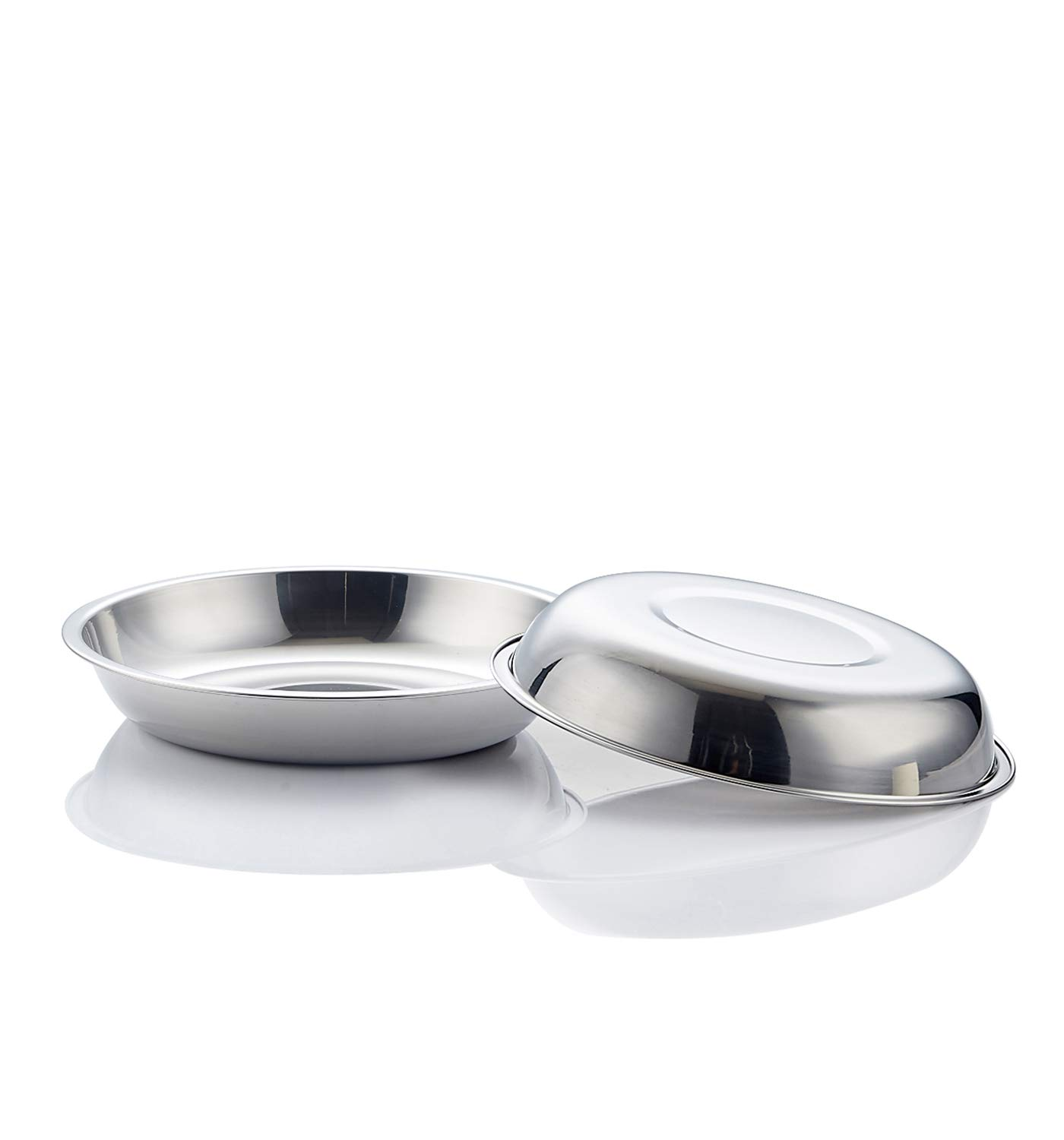 Global Wansheng 5-10 inches Optional Multiple pet Bowls, cat Food Bowl Used to Relieve Whisker Fatigue, Stainless Steel cat Food Tray, Dog Food Dish