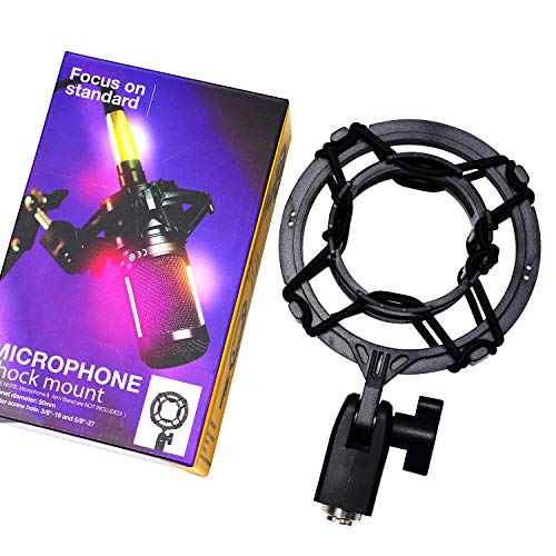 Mount Microphone Suspension - PEBA Microphone Shock Mount Holder Anti Vibration Suspension, Compatible for Audio-Technica Microphone Models AT2020, AT2020 USB, AT2035, AT2050, AT3035, AT3060