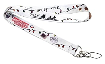 Amazon.com: Stranger Things Themed White Lanyard Id Holder ...