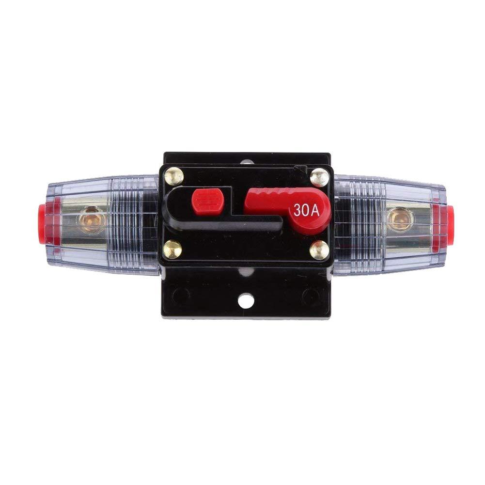 Gcroet 1PC Assicurazione Automatica Portafusibili Interruttore Di Recupero Della Radio Di Assicurazione DellInterruttore Porta-Fusibile Per Stereo Per Auto 30A