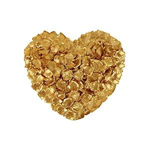 Neo LOONS 1000 Pcs Artificial Silk Rose Petals Decoration Wedding Party Color Gold 23