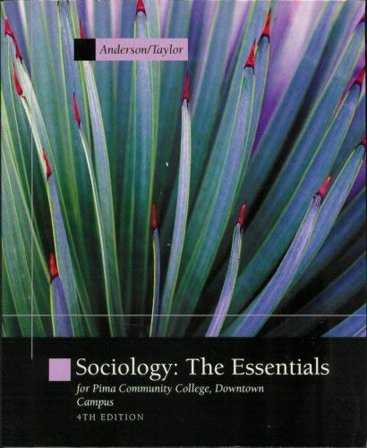 ACP SOCIOLOGY THE ESSENTIALS 4E FOR PIMA DOWNTOWN CAMPUS