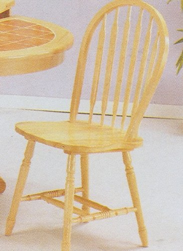 Arrow Chair Wood Natural (Set of 4 Deluxe Natural Finish Arrow Back Farm House Wood Dining Chairs)