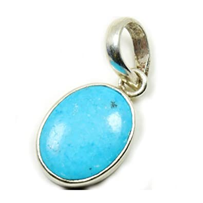 Buy Certified Natural 7 25 Ratti Turquoise Silver Pendant