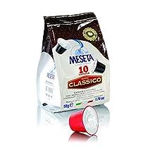 Caffe Meseta 100 cialde capsule compatibili Nespresso miscela Classico