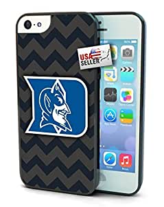 Duke Blue Devils Chevron Print Cell For HTC One M7 Phone Case Cover Hard Protection For HTC One M7 Phone Case Cover and 5s
