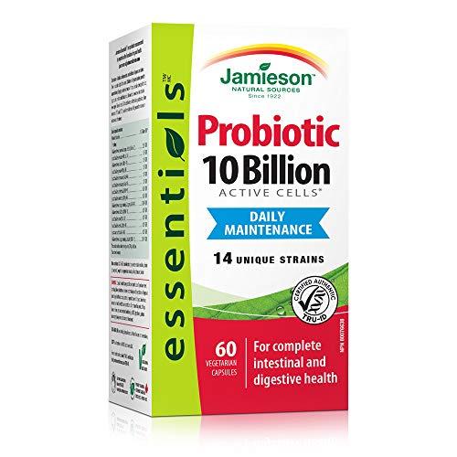 Jamieson Essentials 10 billion Probiotic Supplement, 60 Count