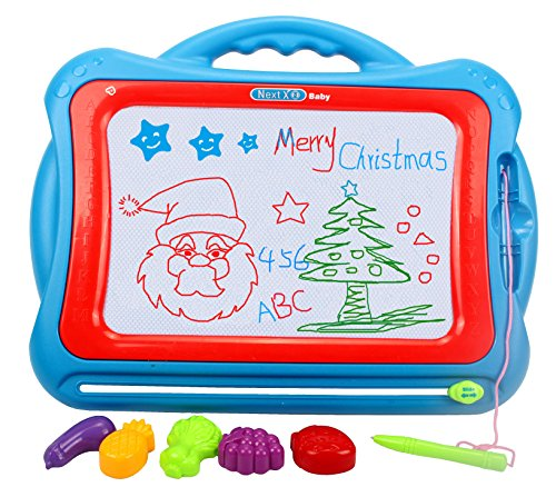 Price comparison product image Magnetic Drawing Board, Erasable Colorful Magna Doodle Drawing Board Educational Toys for Kids to Draw on Magic Sketch Board. Funny Stamps Included.