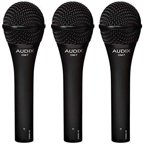Audix OM7 Trio Dynamic Vocal Microphones (Dynamic Trio)