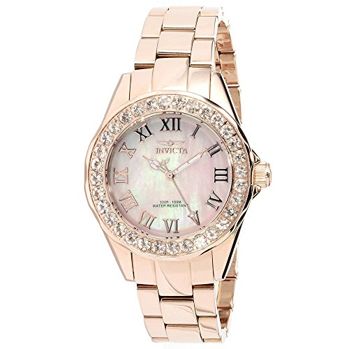 Invicta Angel Mother of Pearl Dial Rose Gold-tone Ladies Watch 14030 [Watch] ...