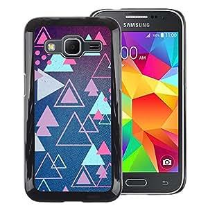 Red-Dwarf Colour Printing Triangle Blue Pink Shapes Retro Game - cáscara Funda Case Caso de plástico para Samsung Galaxy Core Prime SM-G360