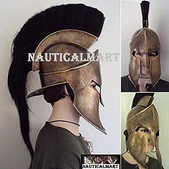 300 SPARTANS KING LEONIDAS Greek Spartan PADDED HELMET HEADGEAR ARMOR Costume