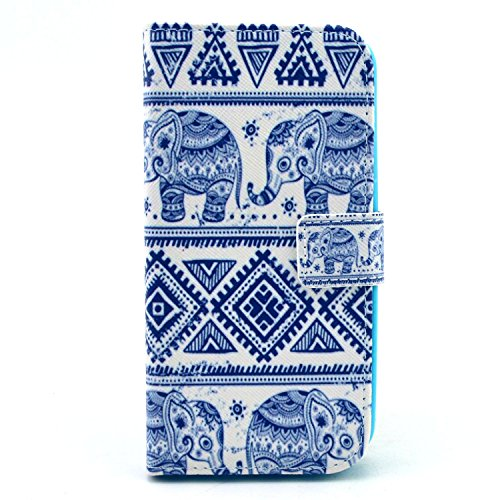 Moto G 2nd Gen Case,Moment Dextrad [Stand Feature][Slim Fit] Flip Premium Style PU Leather Wallet Case with [Card Slot],Cash Compartment Cover Only for Motorola Moto G (2nd generation) *Three Months Warranty* (Elephant Pattern)