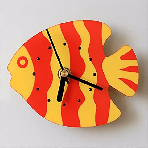 Tropical Fish Fridge Bells Creative Magnet Tanker Folders Temporary Watch Wall Clocks 13 10cm, Red (Bell Tanker)