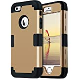 iPhone 5S Case, iPhone SE Case, iPhone 5 Case, BENTOBEN iPhone 5S 5 SE Cases Slim Fit Drop Proof 3 in 1 Hard PC Soft Silicone Rubber Rugged Protective Anti-Scratch iPhone Phone Case Cover for Apple iPhone 5/5S/SE, Gold/Black