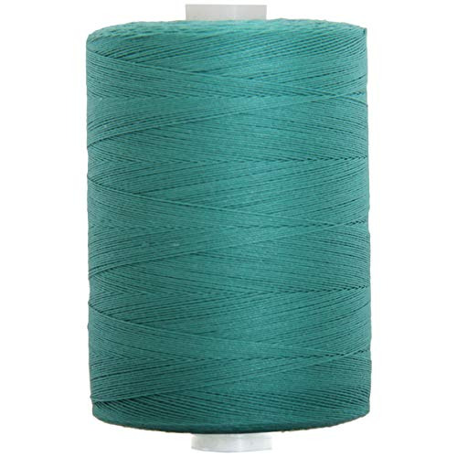 Teal Cotton Thread - Threadart 100% Cotton Thread | Color TEAL | For Quilting, Sewing, and Serging | 1000M Spools 50/3 Weight | 50 Colors Available