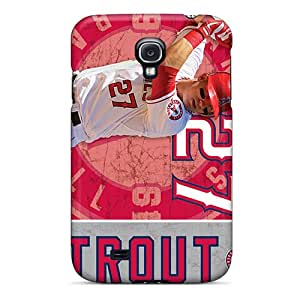 Shock Absorption Hard Phone Cover For Samsung Galaxy S4 (iHo17532oBNE) Provide Private Custom High-definition Los Angeles Angels Pattern