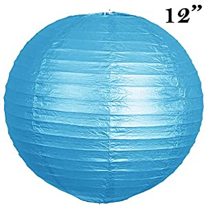 "12 pack 12"" Paper Lanterns Lamp Shades Party Supplies - Turquoise"