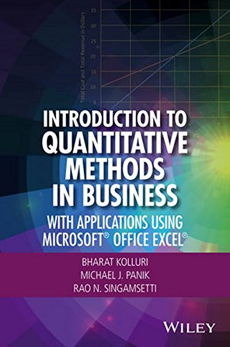 Introduction to Quantitative Methods in Business: With Applications Using Microsoft Office Excel Front Cover