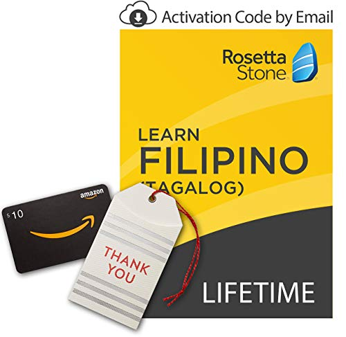 amazoncom rosetta stone learn filipino tagalog lifetime onlinemobile access digital code with amazoncom 10 gift card gift cards