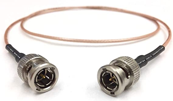 75 Ohm 1 Foot HD-SDI RG179 BNC to BNC Cable for BMCC BMPC Hyperdeck Cameras by Custom Cable Connection